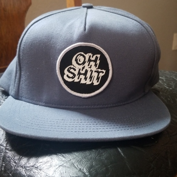 a5930fb60fc HUF Oh Shit Gray Snapback Hat NWOT
